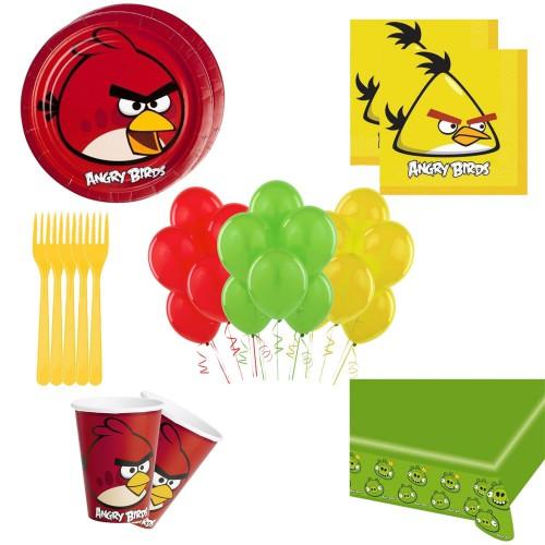 16 Kişilik Angry Birds Doğum Günü Seti, Parti Malzemeleri Paketi
