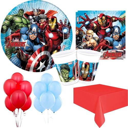 16 Kişilik Avengers Parti Seti Malzemeleri, Yenilmezler Paketi