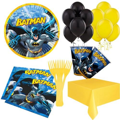 16 Kişilik Batman Doğum Günü Temalı Parti Konsepti Malzemeleri