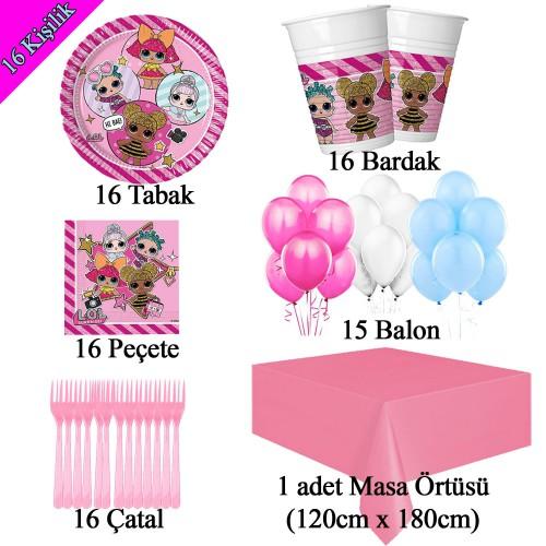 16 Kişilik Lol Bebek Doğum Günü Konsepti Parti Malzemeleri Paketi
