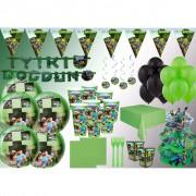 16 Kişilik Minecraft Temalı Doğum Günü Seti Ürünleri Paketi