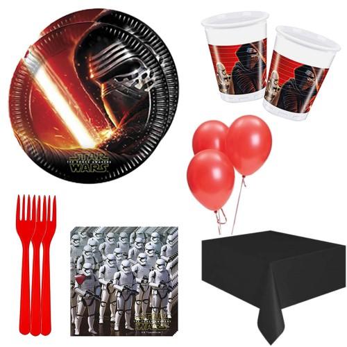 16 Kişilik Star Wars Teması Konsept Doğum Günü Parti Malzemeleri