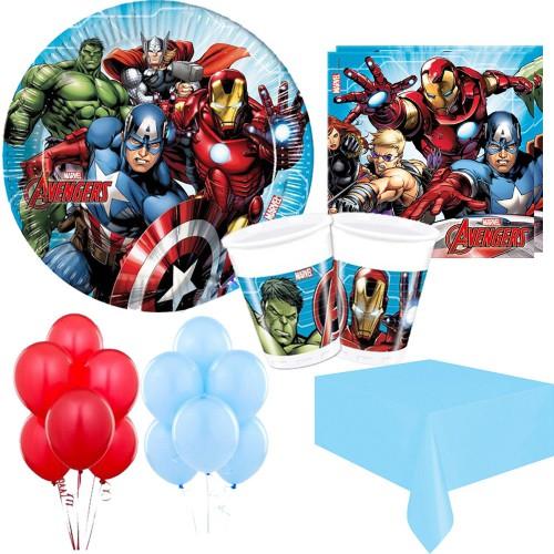 16 Kişilik Yenilmezler Parti Seti Malzemeleri, Avengers Paketi