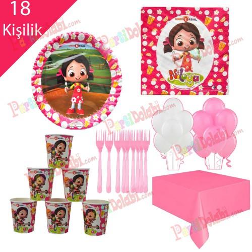 18 Kişilik Niloya Doğum Günü Temalı, Parti Teması Konsepti Seti