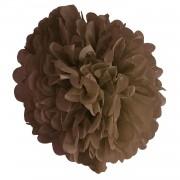 Kahverengi Ponpon Gramafon Çiçek Kağıt Doğum Günü Parti Süsü
