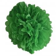 Koyu Yeşil Ponpon Gramafon Çiçek Kağıt Doğum Günü Parti Süsü