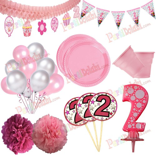 2 Yaş Kız Doğum Günü Konsepti Malzemeleri