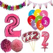 2 Yaş Kız Doğum Günü Süsleri Paketi
