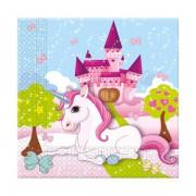 20 Adet Unicorn Baskılı Peçete, Tekboynuz At Doğum Günü Partisi