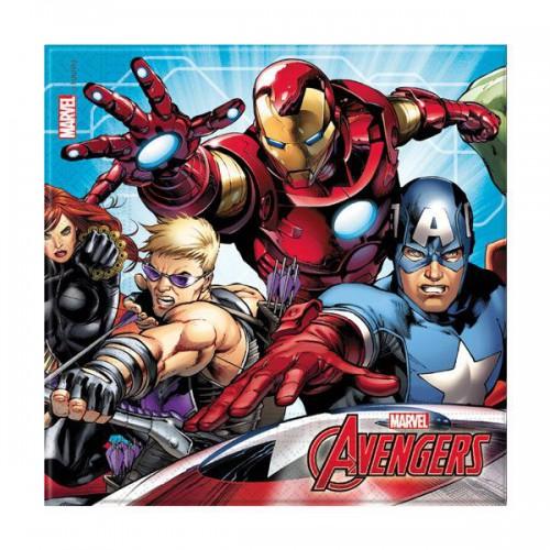 20 Adet Avengers Peçete 33x33cm Yenilmez Parti Konsepti Malzemesi