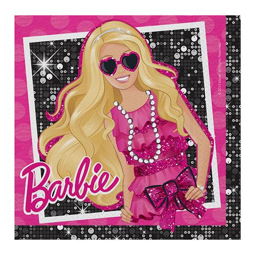 20 Adet Barbie Peçete 33cmx33cm Doğum Günü Parti Peçetesi Pembe