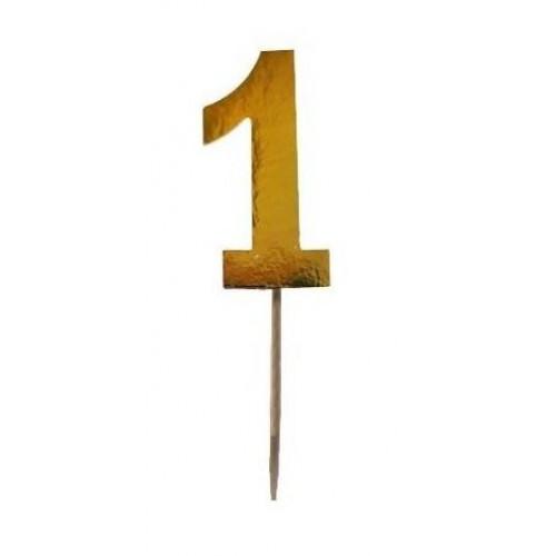 15 Adet Gold Altın Rengi 1 Yaş Kürdan, Doğum Günü Kürdanları