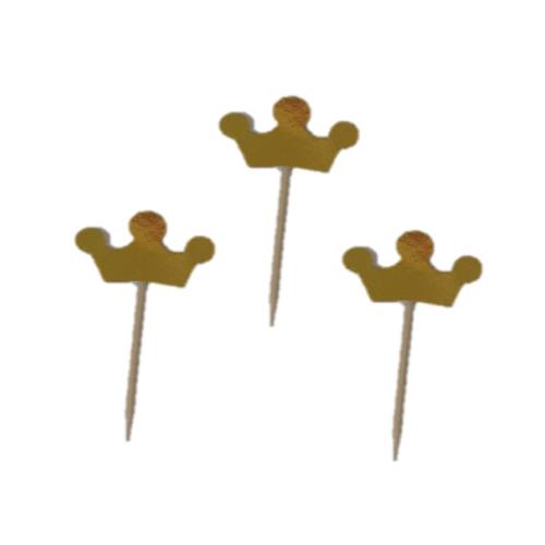 20 Adet Gold Altın Rengi Parti Sunum Kurdanı Cupcake Süsler
