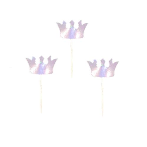 20 Adet Gümüş Gri Rengi Parti Sunum Kurdanı Süsleri