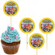 20 Adet Harika Kanatlar (Super wıngs) Sunum Kürdanı  Erkek Doğum Günü Parti Malzemesi
