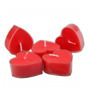 20 Adet Kırmızı Gül Kokulu Kalpli Küçük Mumlar, Kalp Şeklinde Mum