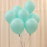 20 adet Mat Mint Yeşili Turkuaz Balon Doğum Günü Helyumla Uçan
