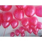 20 ADET METALİK KOYU PEMBE FUŞYA BALON Doğum Günü Helyumla Uçan