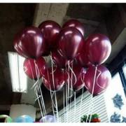 20 ADET BORDO BALON Doğum Günü Helyumla Uçan