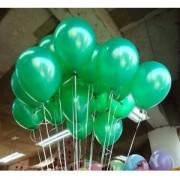 20 ADET METALİK SEDEFLİ KOYU YEŞİL BALON Doğum Günü Helyumla Uçan