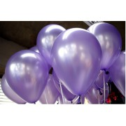 20 ADET METALİK SEDEFLİ MOR LİLA BALON Doğum Günü Helyumla Uçan
