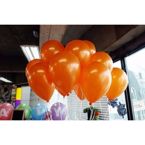20 ADET METALİK SEDEFLİ TURUNCU BALON Doğum Günü Helyumla Uçan