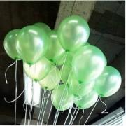 20 ADET METALİK SEDEFLİ AÇIK YEŞİL BALON Doğum Günü Helyumla Uçan