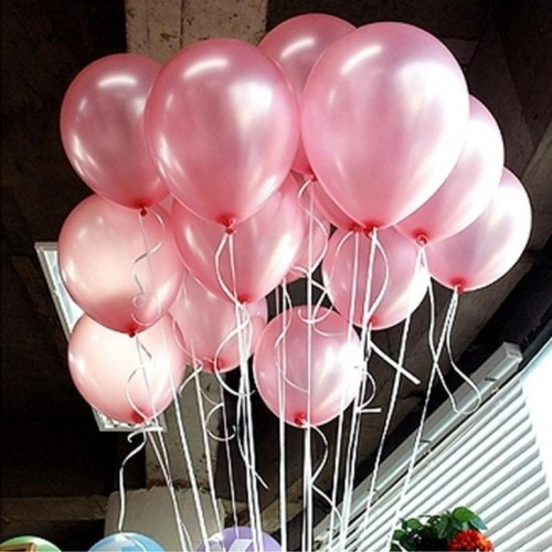20 ADET METALİK ŞEKER PEMBE BALON Doğum Günü Helyumla Uçan