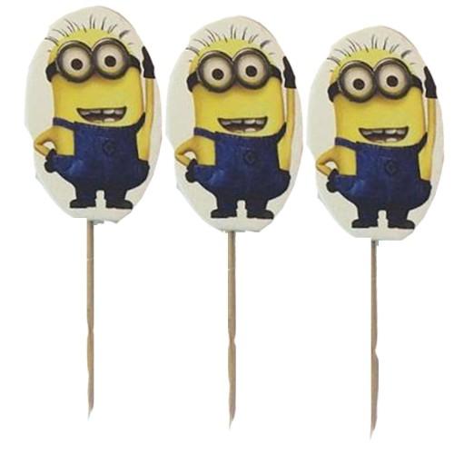 20 Adet Minion, Minyon, Minions Sunum Kürdanı Parti Malzemesi