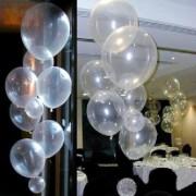 20 Adet Şeffaf Balon 12 inc Transparan Helyumla Uçan, Jumbo Değil