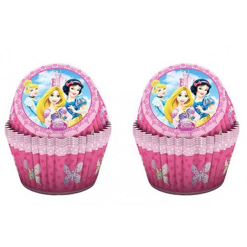 24 Adet Disney Prensesler Kağıt Muffin Cupcake, Kek Kalıbı