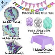 24 Kişi Deniz Kızı Ariel Konseptli Doğum Günü Partisi Paketi