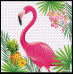 24 Kişi Flamingo Temalı Parti Malzemeleri Doğum Günü Süs Paketi