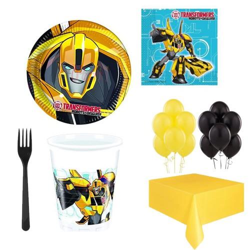 24 Kişi Transformers Konsepti Doğum Günü Parti Ürünleri Bumblebee
