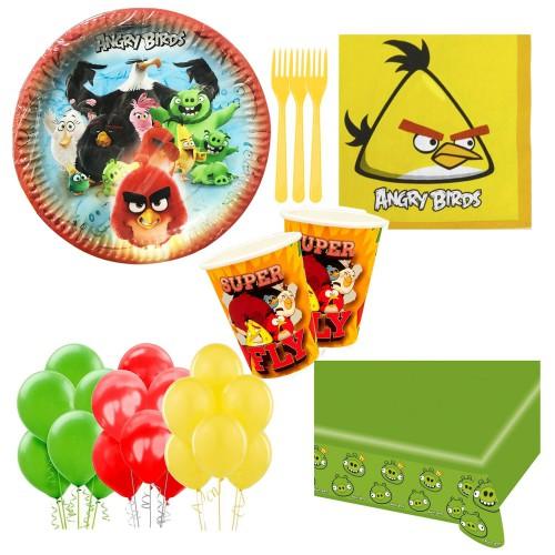 24 Kişilik Angry Birds Doğum Günü Seti, Parti Malzemeleri Paketi