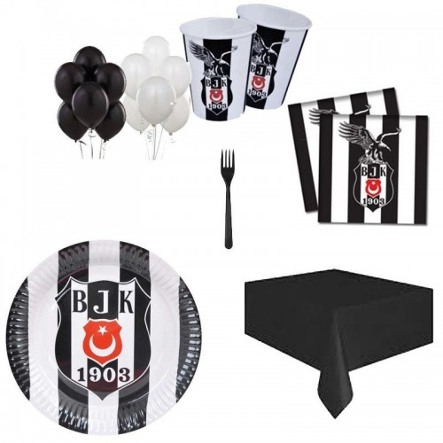 24 Kişilik Beşiktaş Doğum Günü Paketi, Parti Konsepti Süsleri