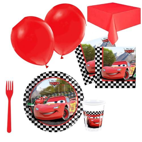 24 Kişilik Cars Doğum Günü Parti Malzemeleri, Arabalar Konsepti