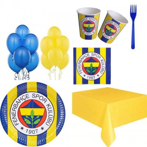 24 Kişilik Fenerbahçe Doğum Günü Parti Ürünleri Fb Temalı Konsept