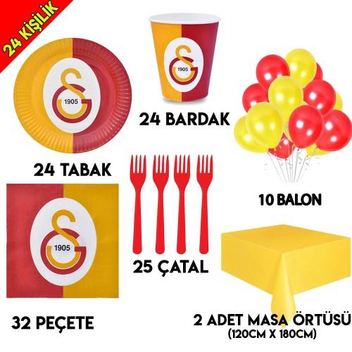 24 Kişilik Galatasaray Doğum Günü Parti Seti Gs Konseptli Ürünler