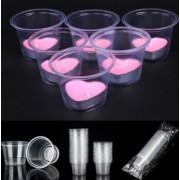25 Adet Cam Görünümlü Şeffaf Plastik Tealight Mum Kabı