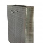 25 Adet Gümüş Gri Hediyelik Küçük boy Çanta 18cm x 12cm