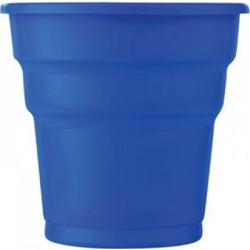 25 ADET Koyu Mavi Bardak 200 ml Kullan At Doğum Günü Parti Ucuz