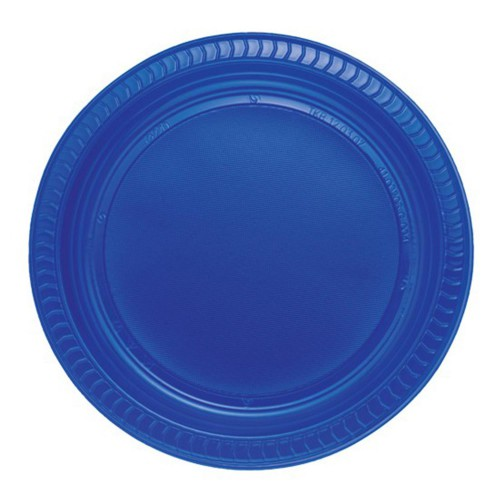 25 ADET Koyu Mavi Tabak 22 cm Kullan At Doğum Günü Parti