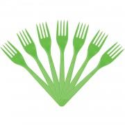 25 Adet Plastik Yeşil Çatal 18 cm Kullan At doğum Günü Parti