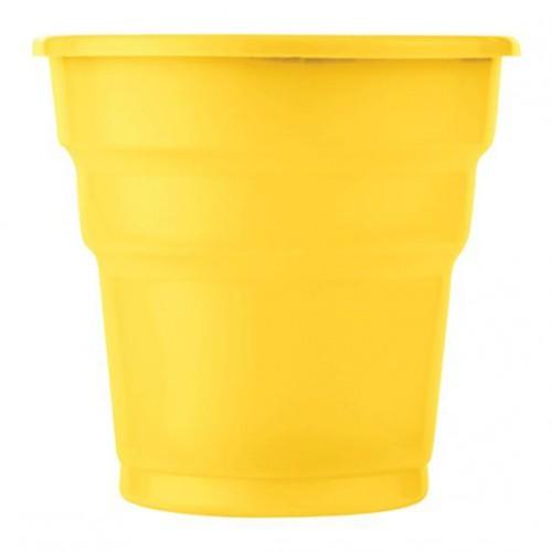 25 ADET Sarı Bardak 200 ml Kullan At Doğum Günü Parti Ucuz