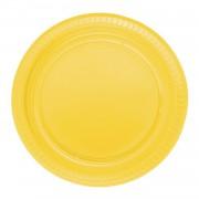 25 ADET Sarı Tabak 22 cm Kullan At Doğum Günü Parti