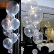 25 adet Şeffaf Renk Lateks Pvc Plastik Balon (Helyumla Uçan)