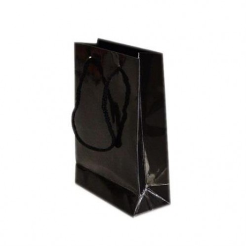 25 Adet Siyah Hediyelik Küçük boy Çanta 18cm x 12cm