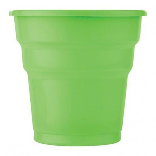 25 ADET Yeşil Bardak 200 ml Kullan At Doğum Günü Parti