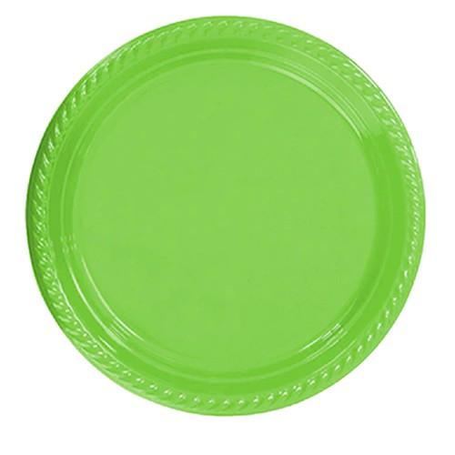 25 ADET Yeşil Tabak 22 cm Kullan At Doğum Günü Parti